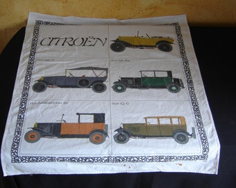 Cloth towel collection Citroen C4 B2 taxi Landaulet tissue collector. France