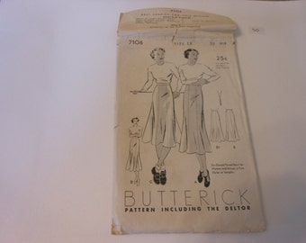 UNCUT Butterick Vintage Pattern 7106  printed in 1919 and 1923