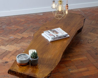 KYKR (Straight) - Handmade Reclaimed Live Edge Hairpin legged coffee table Made to Order  Cafe Bar Restaurant