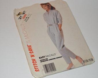 Vintage 1987 McCall's Misses Jumpsuit Pattern 3285