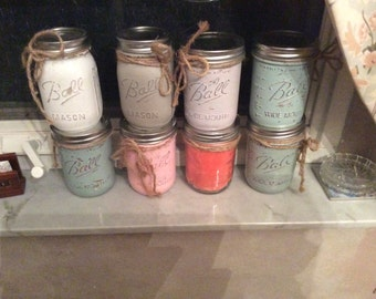 Homemade Soy Candles in mason jars