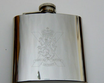 Royal Regiment of Scotland stainless steel Hip Flask