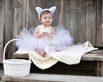 Easter dress - Easter tutu-  Easter Lamb tutu dress - Easter dress - Easter tutu dress - lamb tutu - lamb tutu dress - lamb costume