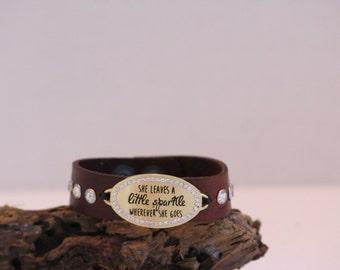 Handmade Leather Women's Bracelet