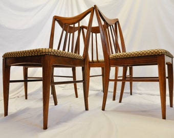 SOLDDONOTBUYSOLDDONOTBUY4 Mid Century Modern Danish Dining Chairs designed by Keller Furniture Vintage