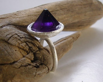 Unique-massive S-ring m Amethyst