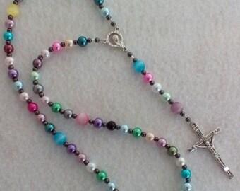 Pastel Catholic Rosary
