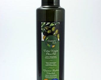 Superior Quality Organic, PDO, Extra Virgin Olive Oil, from Mylopotamos Region, island of Crete, 250ml.