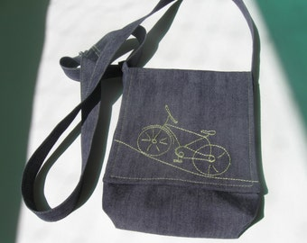 Denim bag with bike