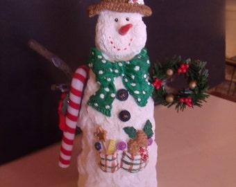 Snowman Figurine, because Christmas is just around the Corner, (# 105/7)