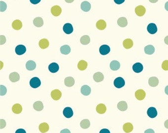 Birch Organic Cotton Fabric - Mod Basics 3 - Pop Dots Boy