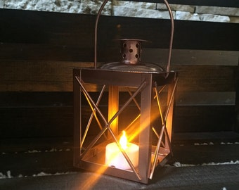 White copper lantern