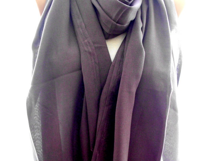30 % DISCOUNT purple pashmina scarf, pashmina shawl, scarves for women, soft scarf, cozy scarf, trendy scarf