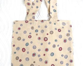tote bag / beige tote bag, foldable shopping bag