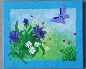 Acrylic painting acrylic painting canvas flowers flowers picture canvas modern abstract summer abstract painting Federal Butterfly