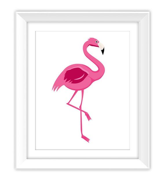 Flamingo Print Pink Printable Flamingo Flamingo Home Decor