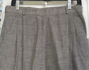 Michael Kors Glen Check Wide Leg Trouser Size 14 NWT