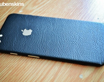 iphone 6 skin black leather
