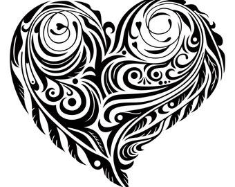 Tribal Heart Decal/ Sticker