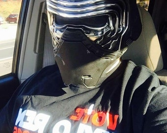 Custom Star Wars Kylo Ren Black Series Helmet, with upgraded voice changer and Screen accurate