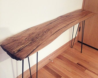 Live Edge Console Table // Hairpin Legs