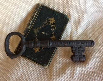 Antique advertising Eclipse Soap cast metal skeleton key home decor