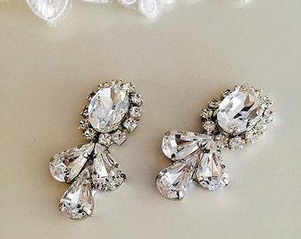 make your jewelry, wedding Accessories supplies 2 pc Rhinestone Embellishment Flatback buttons,