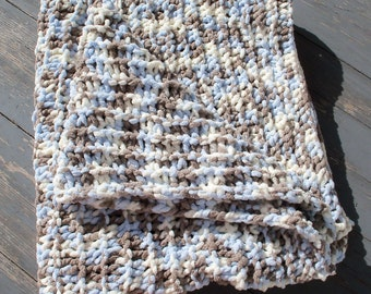 Knitted Chenille Baby Blanket