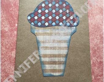 Greeting Card: Ice Cream Cone (blank inside)