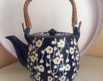 Vintage Tea Pot Blue and White