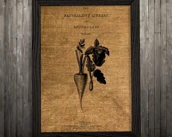 Burlap print Kitchen art Food poster Vegetable print BLP794