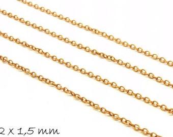 5 m chain copper, fine, 2 x 1.5 mm