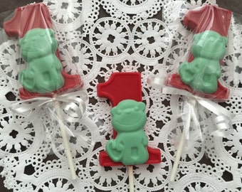 """NUMBER ONE """"MONKEY"""" Chocolate Lollipop(12 qty) -Birthday Party/Safari Party/Baby Zoo Animals/Monkey Favors/Party Favor/Baby's First Birthday"""