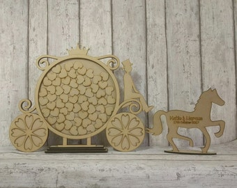 Horse And Cart Wedding Drop Box, Bespoke Guest Book Alternative, Horse And Cart Wedding Drop Box. Custom Wedding Guestbook Alternative