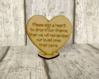 Drop Box Sign, Heart Shaped Sign To Accompany Your Wedding Guest Book, Heart Plaque, Guestbook Sign