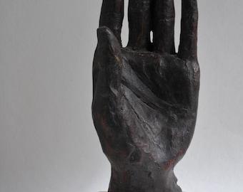 Sculpture bronze hand