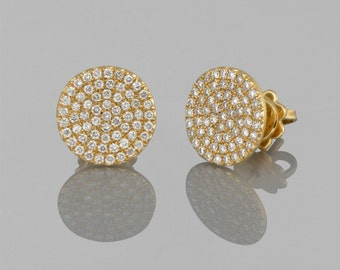 Earrings/rings in 14 K gold with diamonds diamonds 2.20 CT