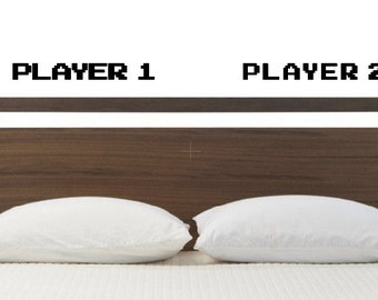 Player 1 Player 2 Video Game Wall Decal