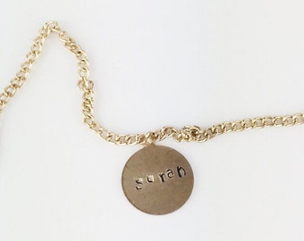 Itsy Bitsy Brass Personalized Necklace