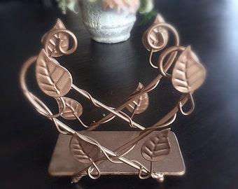 Vintage Rose Gold Napkin Holder