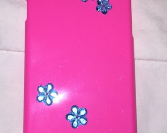 IPhone 6 plus Flowers and Peace Signs Case in Pink