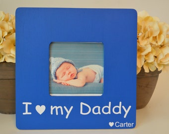 Dad picture frame, custom picture frame, father and son frame,  dad gift, father's day gift, personalized picture frame, kid's picture frame