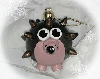 Hand made *hedgehog* Christmas Baubles