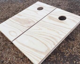 Plain Unfinished Cornhole Set w/ bean bags