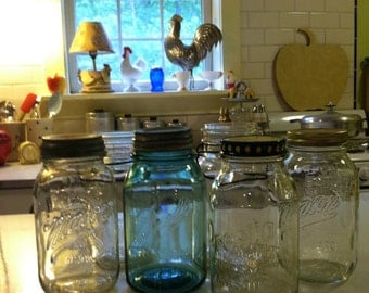 Vintage Ball Mason Jars retro kitchen storage farmhouse chic