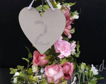 Swarovski Crystal Wedding Table Numbers - Set of 10