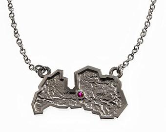 "Pendant ""Latvia"", sterling silver."
