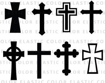 Cross svg silhouette files -  Christian Svg - crosses vector clipart digital download svg, png, dxf, eps