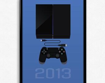PlayStation Inspired Minimalist PlayStation 4 Print