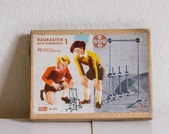 Construction Kit BOB - Papyria AG / Fraba - Vintage 1950s - NEW